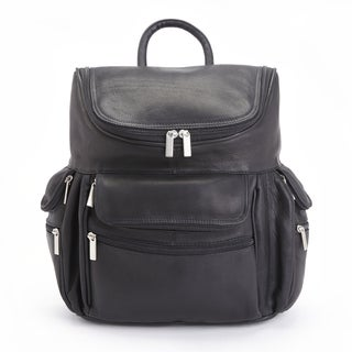 Royce Leather Executive Colombian Leather 15-inch Laptop Backpack