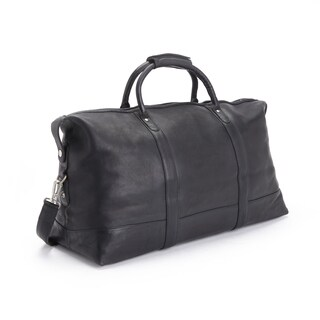 Royce Leather Colombian Leather 24-inch Luxury Travel Duffel Bag