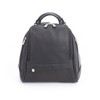 Royce Leather Handcrafted Colombian Leather Luxury Sling Backpack (Option: Black)