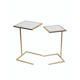 Privilege 2 Piece Gold Leaf Iron C Tables