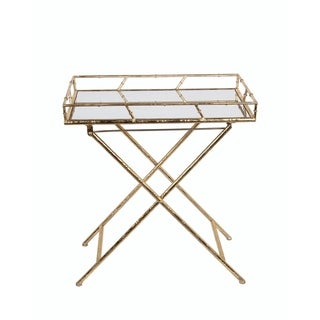 Privilege Gold Leaf Rectangle Tray Table