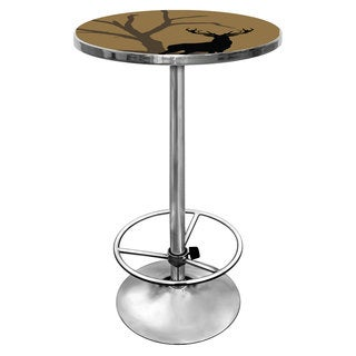 Hunt Deer Chrome Pub Table