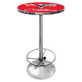 Corvette C2 Red Chrome Pub Table