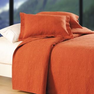 Terra Cotta Matelasse Quilt (Shams Not Included)