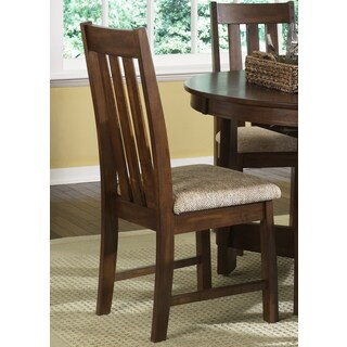 Urban Mission Dark Oak Upholstered Side Chair
