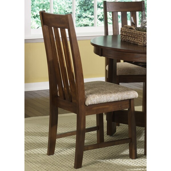 urban mission dark oak upholstered dining chair free shipping today