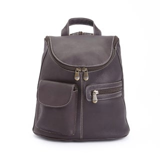 Royce Leather Handcrafted Columbian Leather Luxury Tablet iPad Backpack