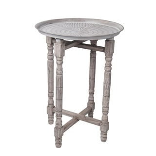 Privilege Stamped Bohemian Accent Table