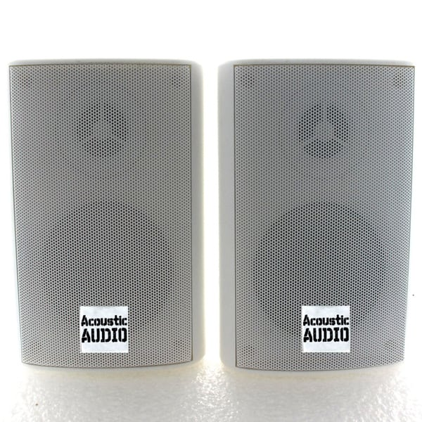 Acoustic Audio AA351W 2 way 500 watt White Indoor Outdoor