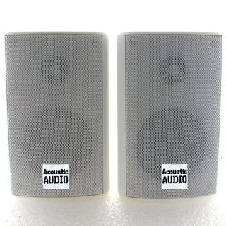 Acoustic Audio AA351W 2-way 500-watt White Indoor/ Outdoor Speakers