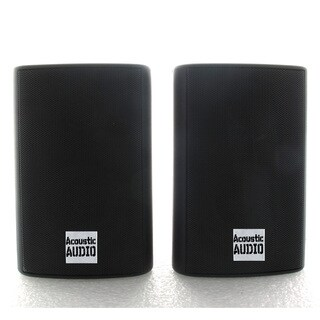 Acoustic Audio AA351B 2-way 500-watt Black Indoor/ Outdoor Speakers