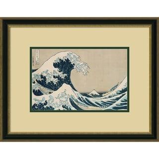 Katsushika Hokusai 'The Great Wave of Kanagawa, pub. by Nishimura Eijudo' 22 x 17-inch Framed Art Print