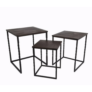 Privilege Brown 3-piece Tables (Set of 3)