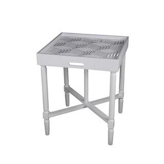 Privilege White Squared Accent Table