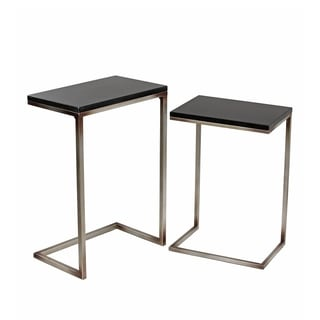 Privilege Iron and Stone Accent Stands (Set of 2)