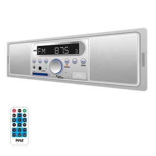 Pyle PLMR7BT In-dash Radio/ Bluetooth/ MP3/ USB/ SD/ AUX Single DIN Headunit Stereo Receiver with Speakers