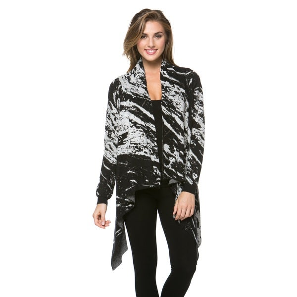 High Secret Women's Printed Asymmetrical Cardigan