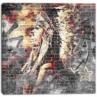 Design Art 'Native' Street Art Canvas Artwork