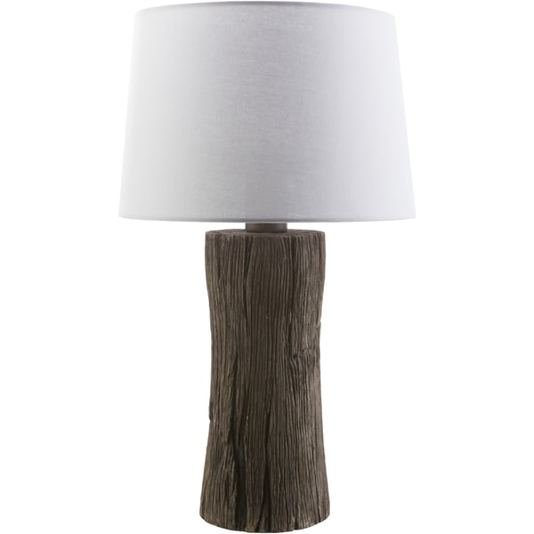 Rustic Max Table Lamp with Natural Finish Resin Base