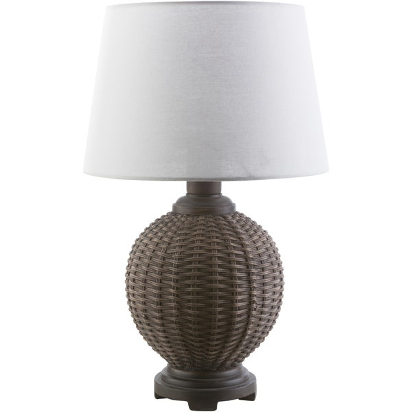 Contemporary March Table Lamp with Natural Finish Resin Base
