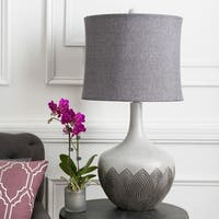 Contemporary Linus Table Lamp with Natural Finish Resin Base