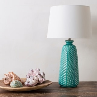 Rustic Jack Table Lamp with Glazed Ceramic Base