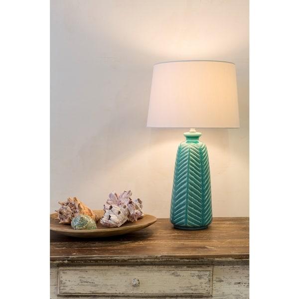 Rustic Jack Table Lamp with Glazed Ceramic Base