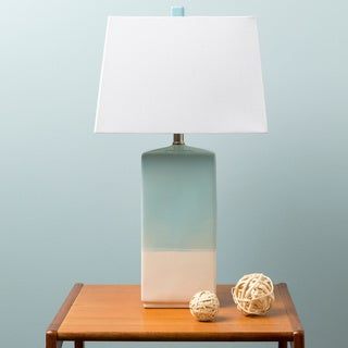Rustic Isamu Table Lamp with Glazed Ceramic Base