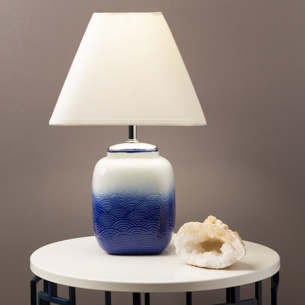 Modern Frome Table Lamp with Glazed Ceramic Base