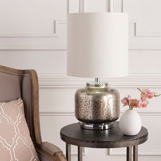 Rustic Fahua Table Lamp with Pewter Finish Glass Base