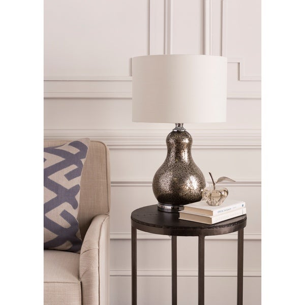 Rustic Ethel Table Lamp with Pewter Finish Glass Base