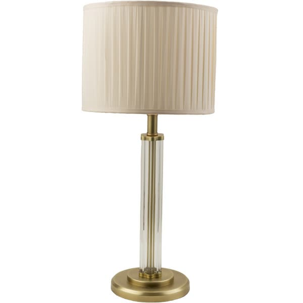 Casual Devin Table Lamp with Antique Brass Finish Iron Base
