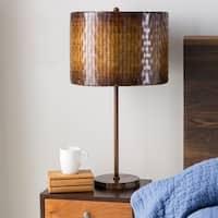 Rustic Dara Table Lamp with Iron Finish Iron Base