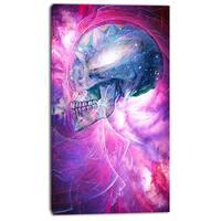 Design Art 'Spatial Skull' Street Art Canvas Artwork
