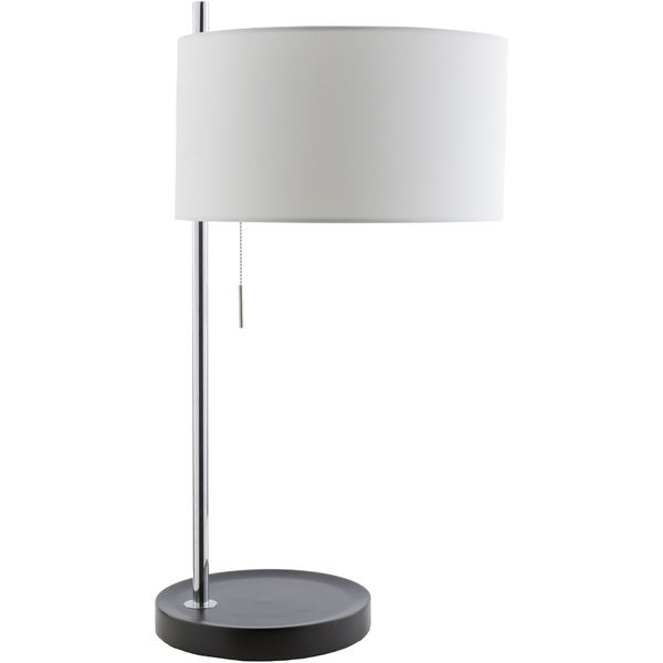 Contemporary Ann Table Lamp with Chrome Finish MDF Base
