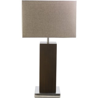 Contemporary Amy Table Lamp with Brushed Nickel Finish Metal Base