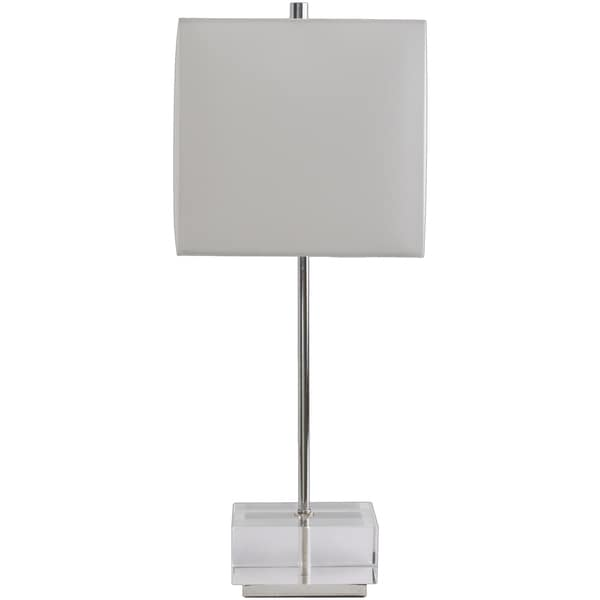 Rustic Alta Table Lamp with Chrome Finish Crystal Base