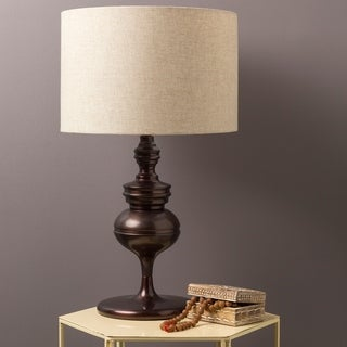 Rustic Acton Table Lamp with Bronze Base