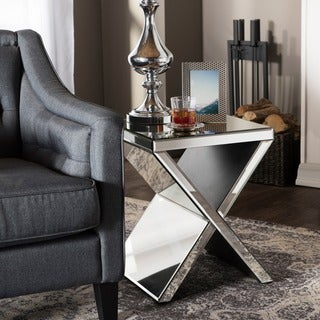 Baxton Studio Morris Contemporary Hollywood Regency Glamour Style Accent Side Table