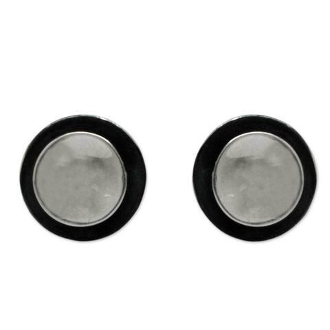 Sterling Silver 'Lunar Shadow' Earrings (Mexico)