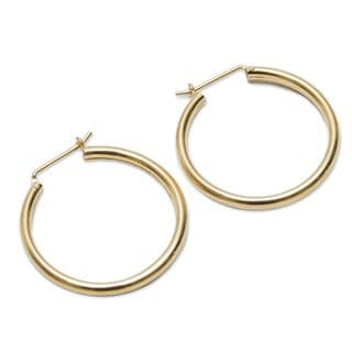 Handcrafted Gold Overlay 'Minimalist Magic' Earrings (Peru)