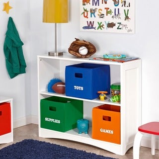 RiverRidge Kids' Folding Storage Bins with 'Supplies' Print