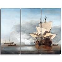 Design Art 'Willem van de Velde - The Cannon Shot' Canvas Art Print