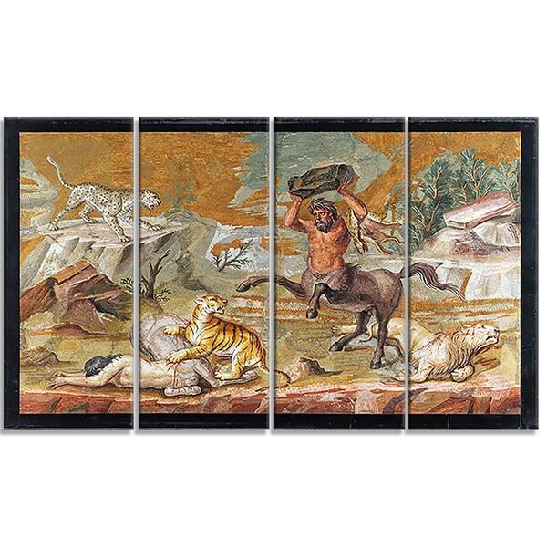 Design Art 'Centaur - Centaur Mosaic' Canvas Art Print