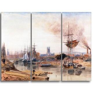 Design Art 'Peter DeWint - Gloucester' Canvas Art Print