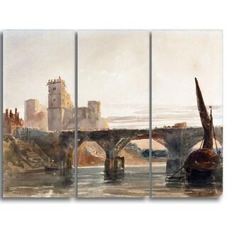 Design Art 'Peter DeWint - Castle from the Bridge' Canvas Art Print