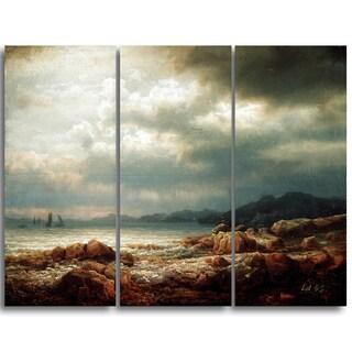 Design Art 'Lars Hertervig - Coastal Landscape' Canvas Art Print