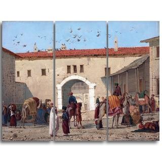 Design Art 'Richard Dadd - Caravanserai at Mylasa in Asia Minor' Canvas Art Print