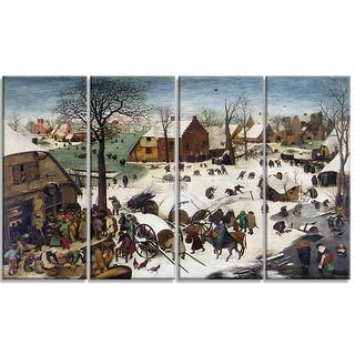 Design Art 'Pieter Bruegel - The Numbering at Bethlehem' Canvas Art Print