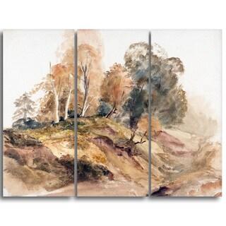 Design Art 'Peter DeWint - Trees on a Bank' Canvas Art Print